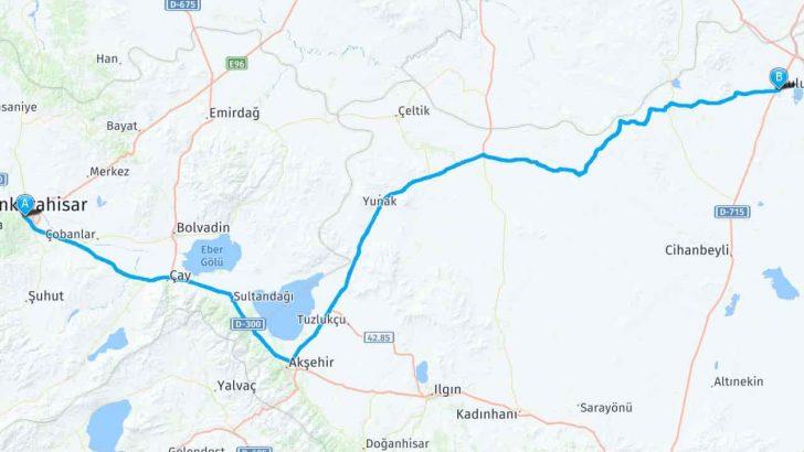 Kulu Afyonkarahisar Arası Kaç Km