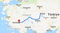 Kulu Denizli Arası Kaç Km