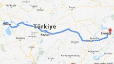 Kulu Elazığ Arası Kaç Km