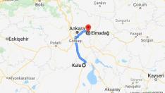 Kulu Elmadağ Ankara Arası Kaç Km